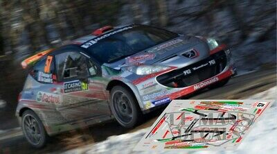 Decals Peugeot 207 S2000 Rally Ypres 2014 1:32 43 24 Slot Calcas Consani Avant