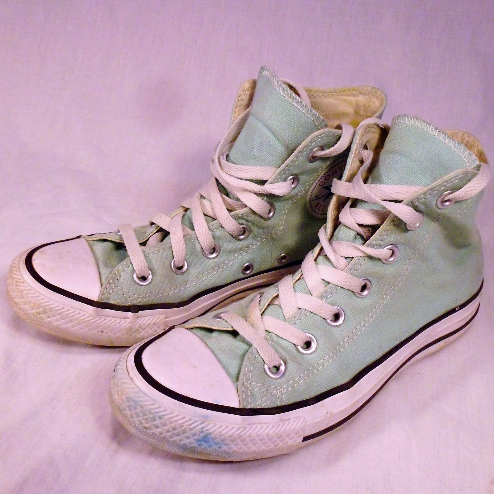 Converse All Stars High Tops shoes Mint Green Mens 5 Womens Size 10 Chucks