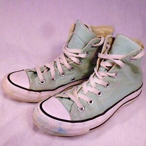 Stars High Tops Shoes Mint Green Mens