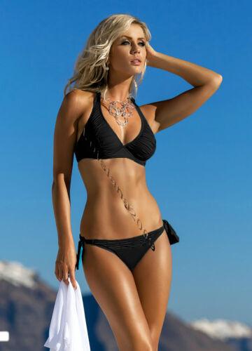 in Schwarz,Blau Neu Neckholder Softcup Bikini Self Gr.36-40Cups C-E 115 M,MW