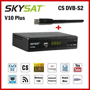 DVB-S2-Satellite-Receiver-SKYSAT-V10-Plus-DH-1080P-FTA-Decoder-WiFI-m3u-Youtube