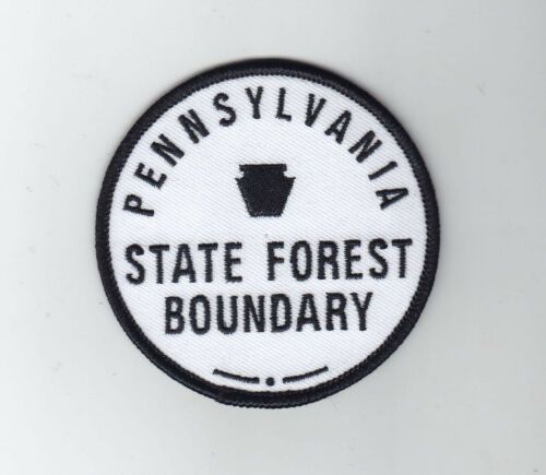 Pennsylvania State Forest Boundary embroidered patch design PA state patch