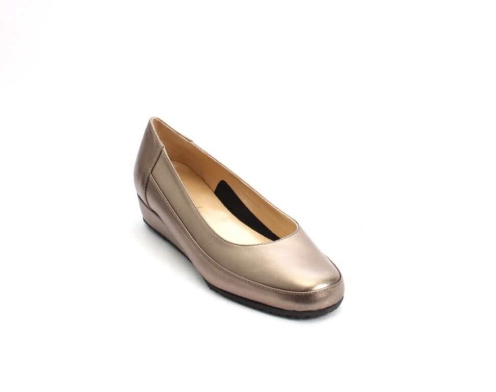 Luca Grossi 6060 Comfort Bronze Leather Wedge Pumps Shoes 39 / US 9