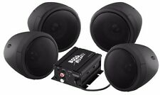 BOSS AUDIO 1000W 4-SPEAKER BLUETOOTH SOUND SYSTEM BLACK POLARIS KAWASAKI ALL UTV