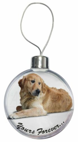 Golden Retriever Dog 'Yours Forever' Christmas Tree Bauble Decoration , ADL60CB