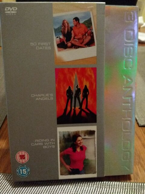 50 First Dates / Charlie's Angels / Riding In Cars With Boys (DVD, 2005, 3-Disc…
