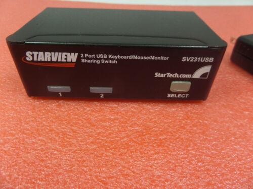 StarTech.com Starview 2-Port USB KVM Switch SV231USB with adapter