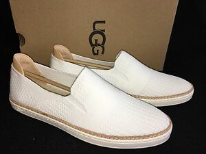 cce639ea441 Details about UGG Australia Sammy Slip On Hyper Weave Casual Sneakers  1016756 Sneakers White