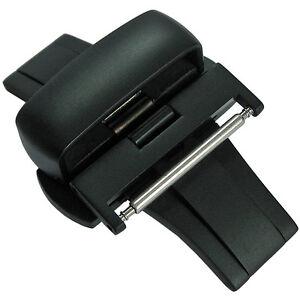 20mm-Matte-Black-PVD-Heavy-Gauge-Butterfly-Push-Button-Deployant-Clasp-Buckle