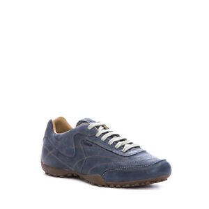 Geox-Snake-Mens-Leather-Trainers-Navy-Size-8-Uk-rrp-100-EM-1088