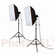 PhotoSEL LS21E52 Softbox Studio Lighting Kit 2x85w 5000lm 5500K 90+ CRI Light