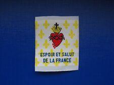 écusson insigne patch religieux scout Espoir et Salut de la France Fleur de Lys