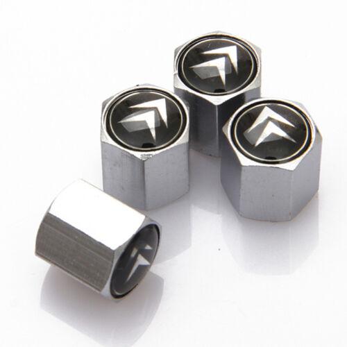 4pcs Car Accessories Styling Tire Valve Stems Caps Covers Badge Logo For Citroen