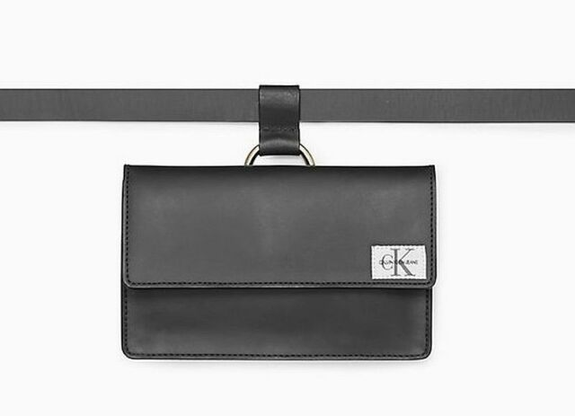 Calvin Klein Leather Harness Buckle Belt Bag
