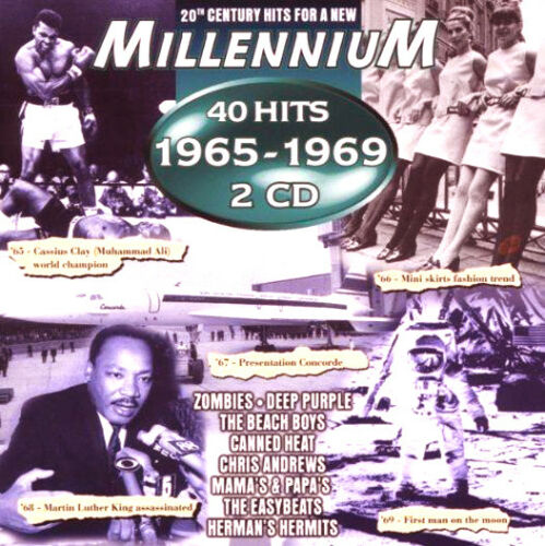 1 of 1 - VARIOUS ARTISTS MILLENNIUM 40 HITS OF 1965-1969 CD Double Album MINT/MINT/MINT *