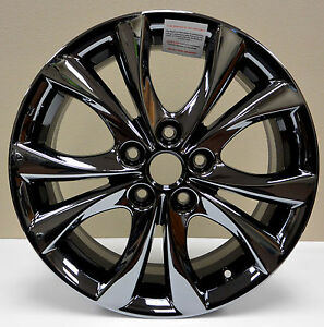 new 17 rims for mazda 3 black chrome 2010 2011 2012. Black Bedroom Furniture Sets. Home Design Ideas