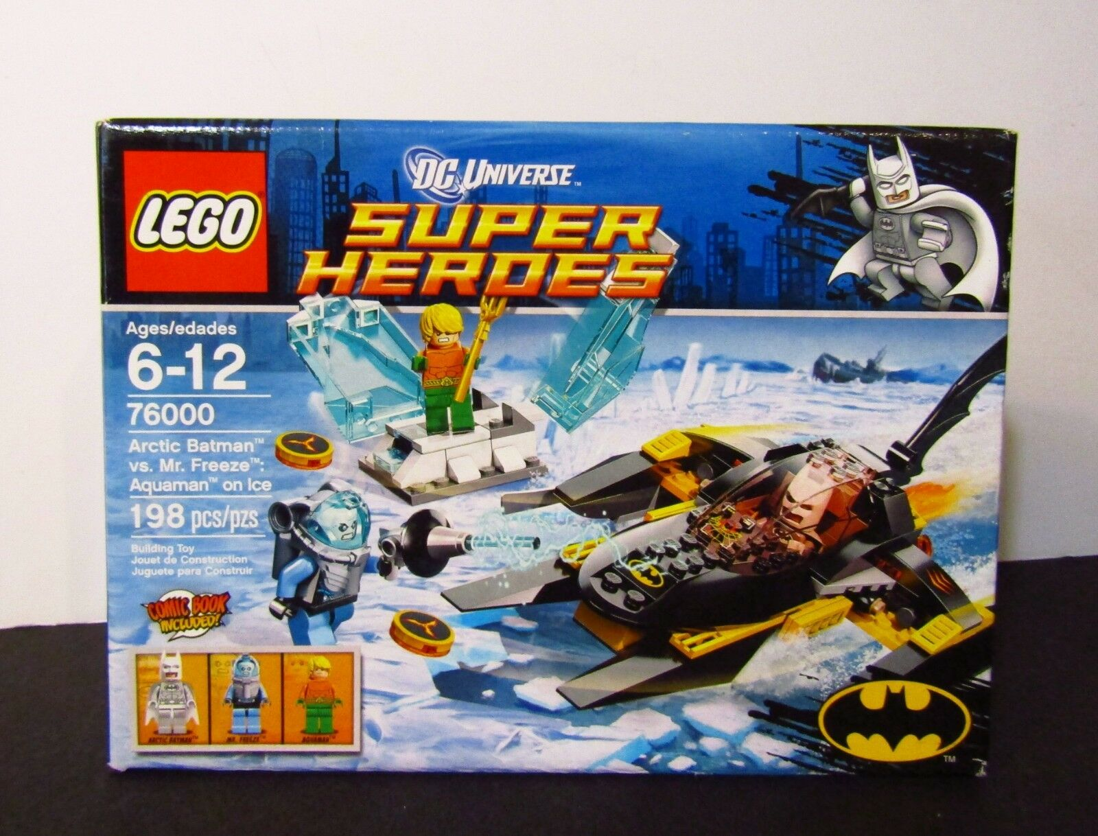 LEGO DC Universe Super Heroes Arctic Batman vs Mr Freeze Aquaman on Ice 76000
