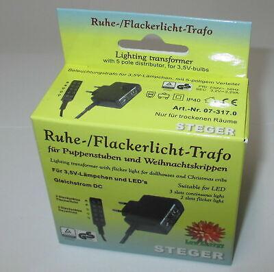 Steger riposo-flackerlicht-Trasformatore 3,5 Volt per Bambole Case//Asili Nido 7 Watt