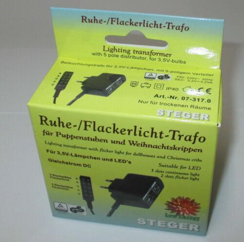 3,5 V Steger de repos et Flackerlicht-transformateur pour poupées maisons//crèches