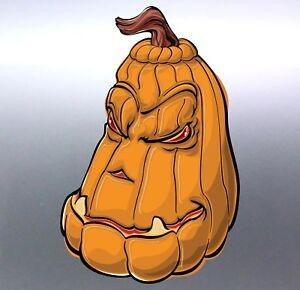 Pumpkin-Halloween-sticker-105x160-mm-vinyl-car-decal-snarling-Happy-window-funny