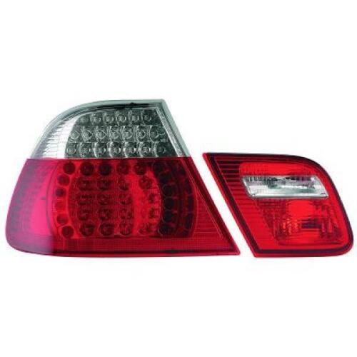 Coppia fari fanali posteriori TUNING BMW Serie 3 E46 99-03 COUPE LED rosso chiar