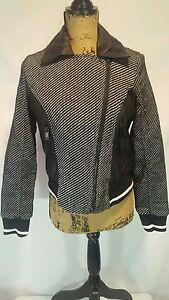 Zip Ny Asymetric Women Dollhouse Stripe Medium 70 Frakke Jacket Baseball Black EpAfngwxqz