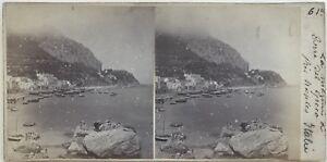 Torre Del Greco Napoli Italia Fotografia Stereo Amateur Vintage Albumina