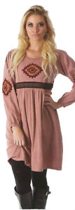 Nwt-SACRED-THREADS-rose-embroidered-knit-cotton-leggings-DRESS-TUNIC-L-Free-ship
