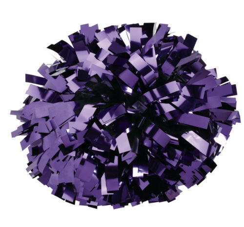 Pizzazz Cheerleading solid color Metallic Pom Pom fast shipping Full size pom!