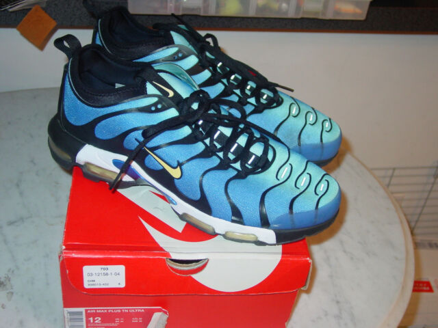 grand choix de a9e5c bb5e0 Nike Air Max Plus TN Ultra Tuned HYPER Blue Chamois Black Shoes 98015-402  95 C1 US 12