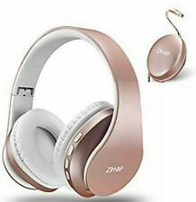 Zapig Wireless Kids Headphones With Microphone Children S Rose Gold For Sale Online Ebay