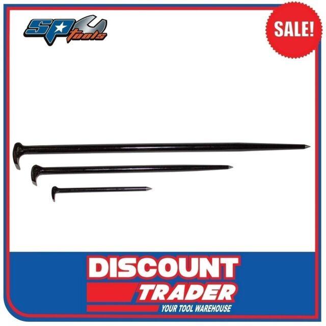 SP Tools SP33820 3 Piece Rolling Head Pry Bar Set