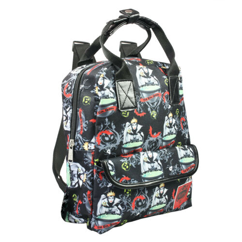 """Disney Villains THE EVIL QUEEN Allover Print 12/"""" Small Backpack"""