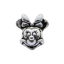1pcs Silver Charms Minnie  Mouse Beads Fit European Charm Bracelet Bangle