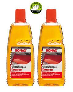 SONAX-314300-lucentezza-Shampoo-concentrato-2-x-1-litri-shampoo-auto