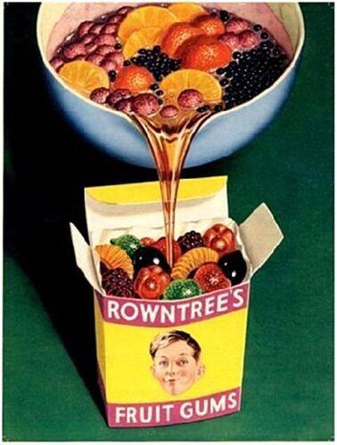 og Rowntrees Fruit Gums Steel Sign 400mm x 300mm