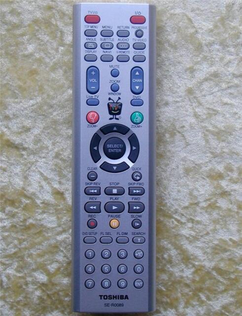Original Toshiba Remote Control SE-R0089 For Toshiba SD-H400 DVD / TiVo