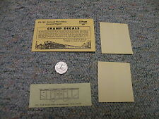 Champ decals O Gauge CN-260 National Plate glass covered hopper  N81