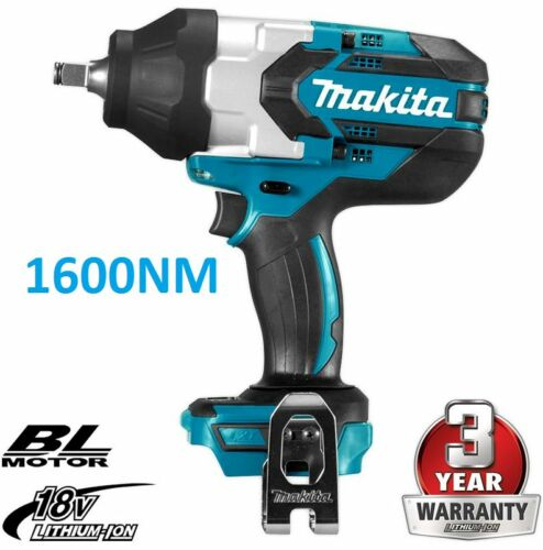 "Makita 1600NM 18V Liion Cordless Brushless 12"" Impact Wrench DTW1002Z"