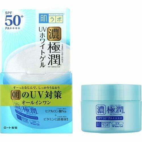 ☀ Rohto Hadalabo Koi Gokujyun UV Blanc Peau Gel SPF50 + Pa 90g