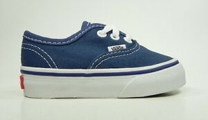 7bc28096d1 Image is loading Vans-Authentic-Infants-Babies-Toddlers-Boys-Girls-Navy-