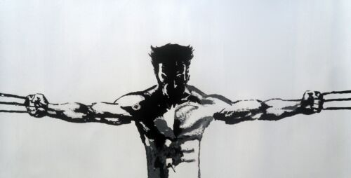 Wolverine X Men Oil Painting 30x16 NOT print //poster Framing Available Avengers