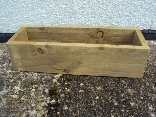 2 Handmade Wooden Window Box Flower/Herb Pot Planter 100 cm