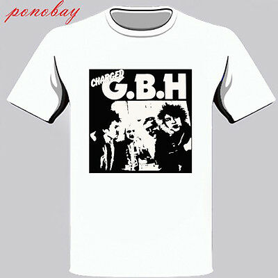 New Charged GBH Street Punk Band Men/'s White T-Shirt Size S-3XL