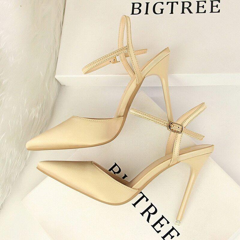 BIGTREE summer shoes woman office career high heels san