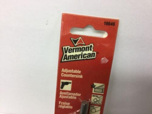 Vermont American 16646 Adjustable Countersink   USA  NOS