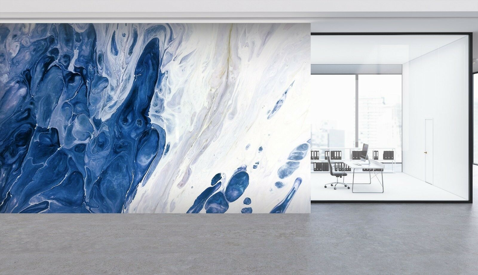 3D Abstract bluee 641 Texture Tiles Marble Wall Paper Decal Wallpaper Mural