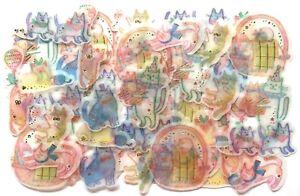 Love-Cute-Kawaii-Animal-Flake-Sticker-48-Cat-Kitty-Kitten-Scrapbook-Q-lia-JAPAN