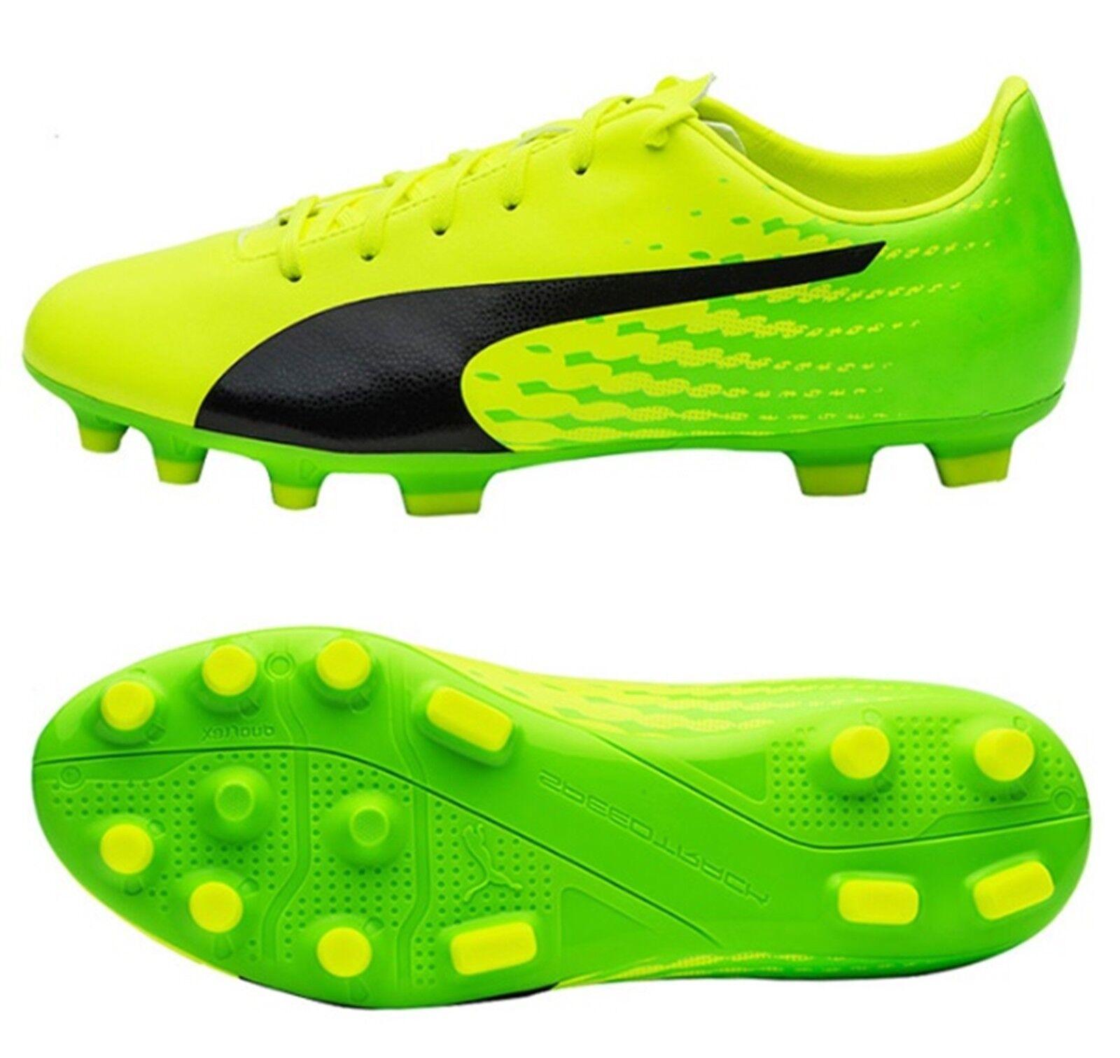 PUMA Men evoSPEED 17.5 AG Cleats Grün Soccer Football Schuhes Spike 104025-01