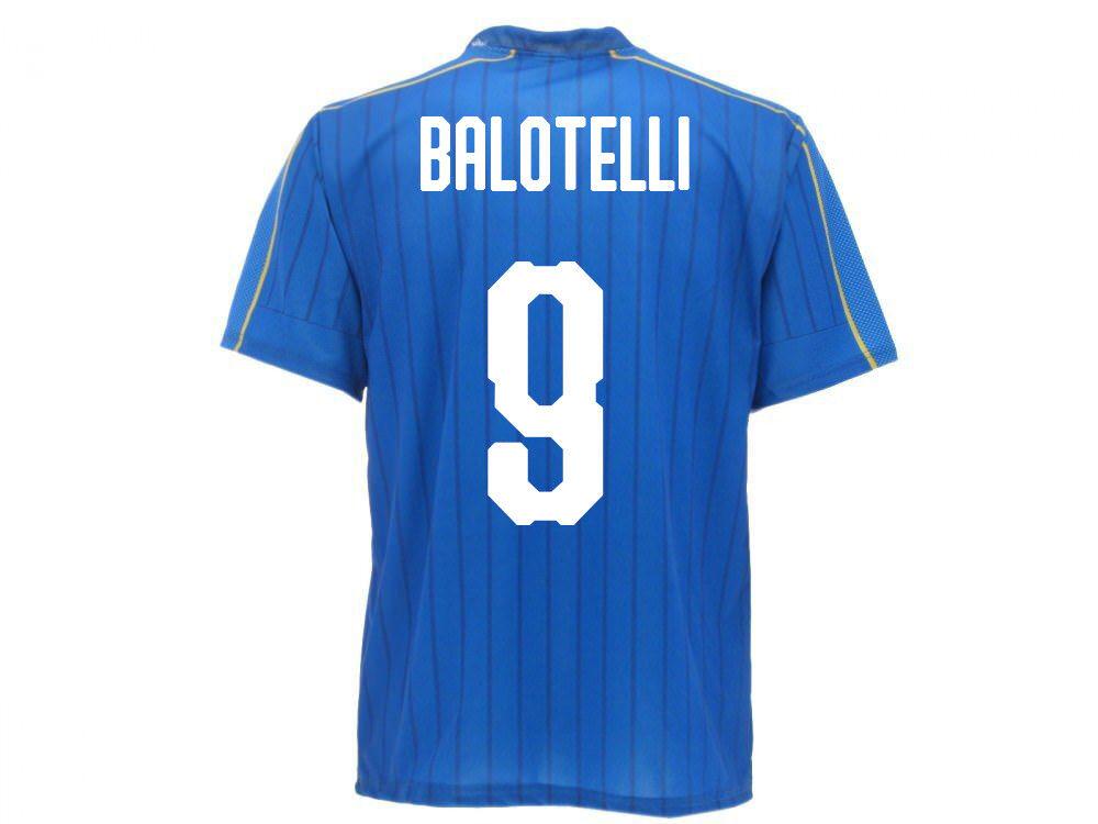 Maglia Ufficiale Italia Balotelli Nazionale Federazione FIGC  Mario 9